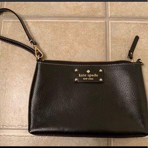 Kate Spade Black Leather Wrislet